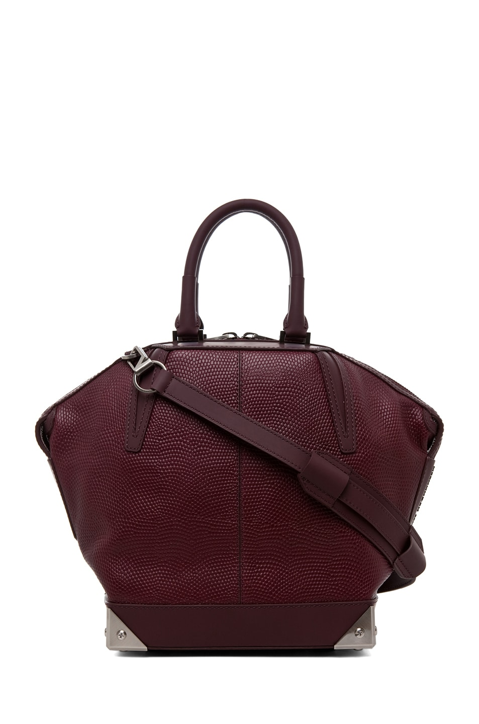 Image 1 of Alexander Wang Small Emile Lizard Print Tote in Oxblood