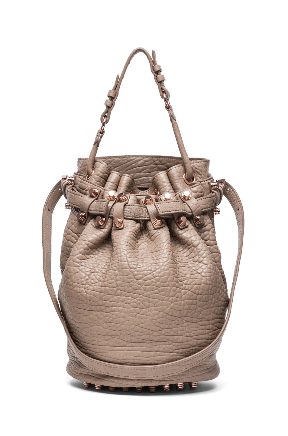 Image 1 of Alexander Wang Diego Bucket Bag with Rose Gold in Latte