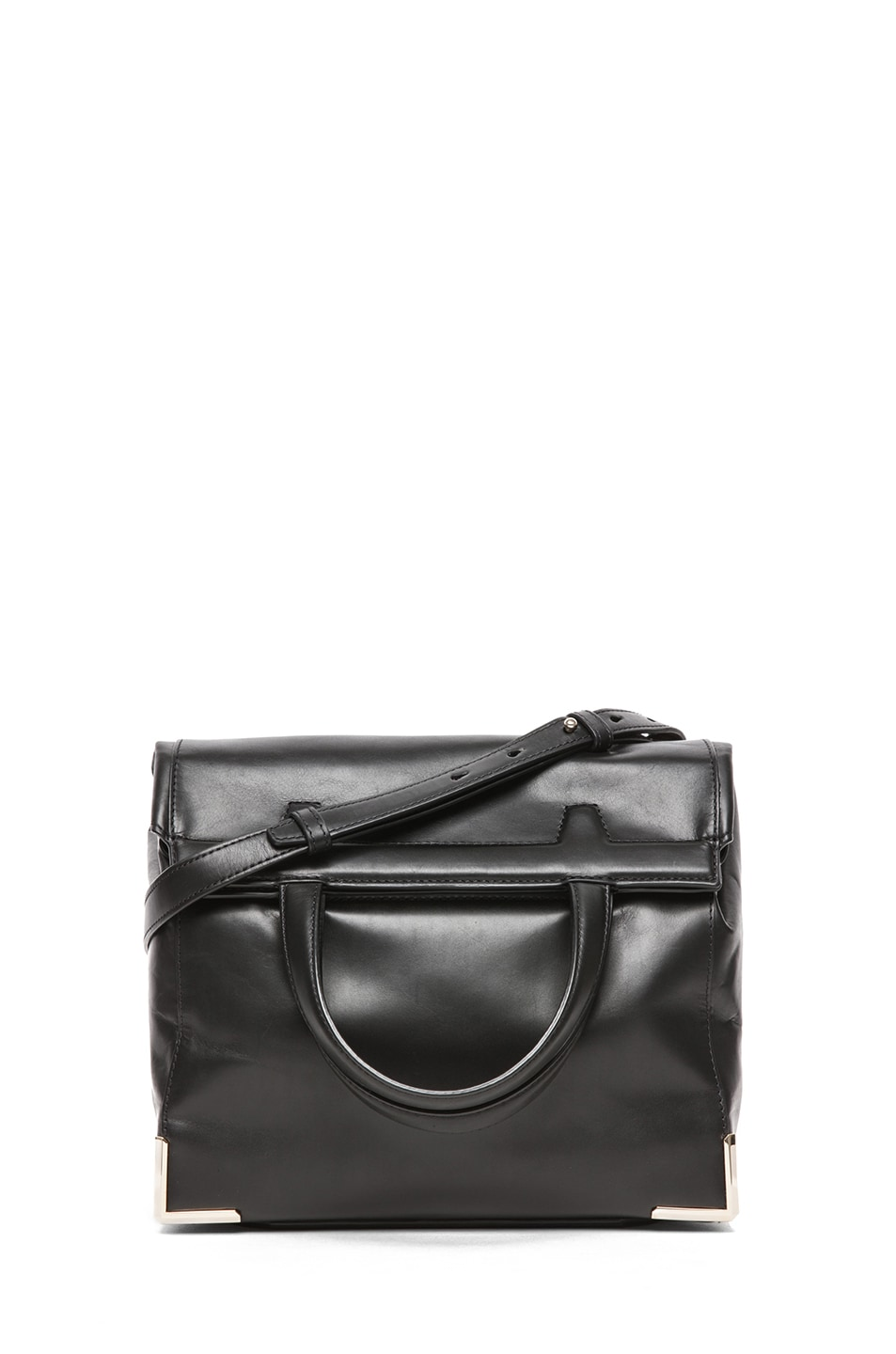 Image 1 of Alexander Wang Prisma Skeletal Lunch Bag in Black