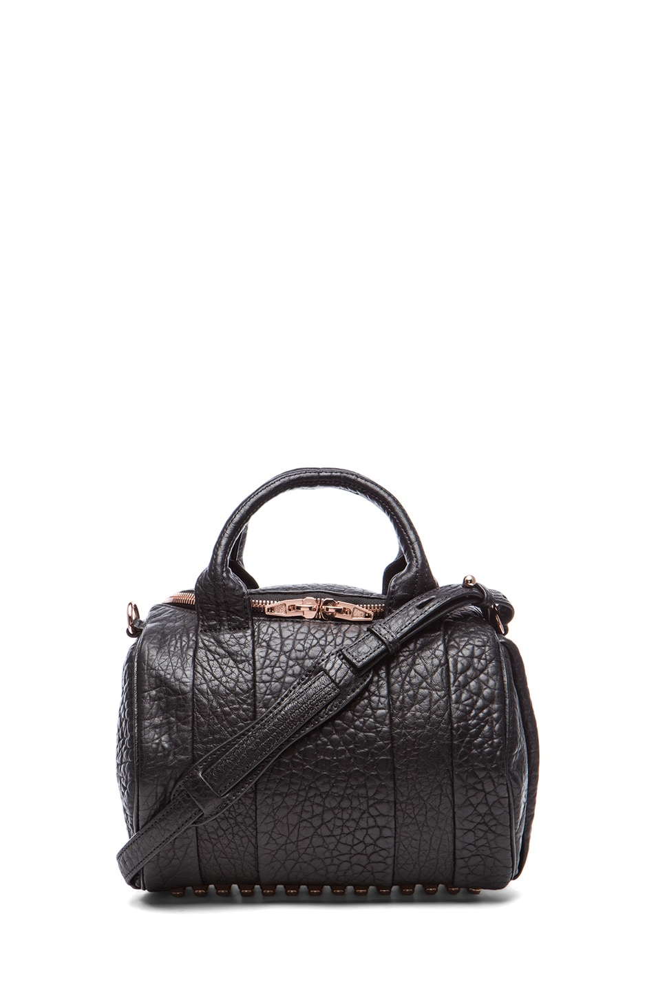 Image 1 of Alexander Wang Rockie Handbag with Rose Gold in Black