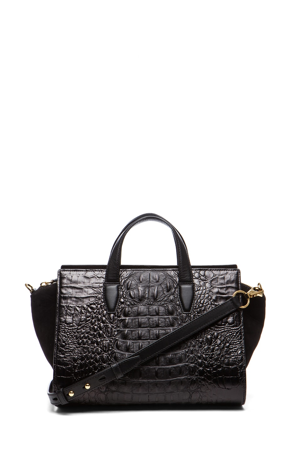 Image 1 of Alexander Wang Pelican Satchel with Yellow Gold in Black