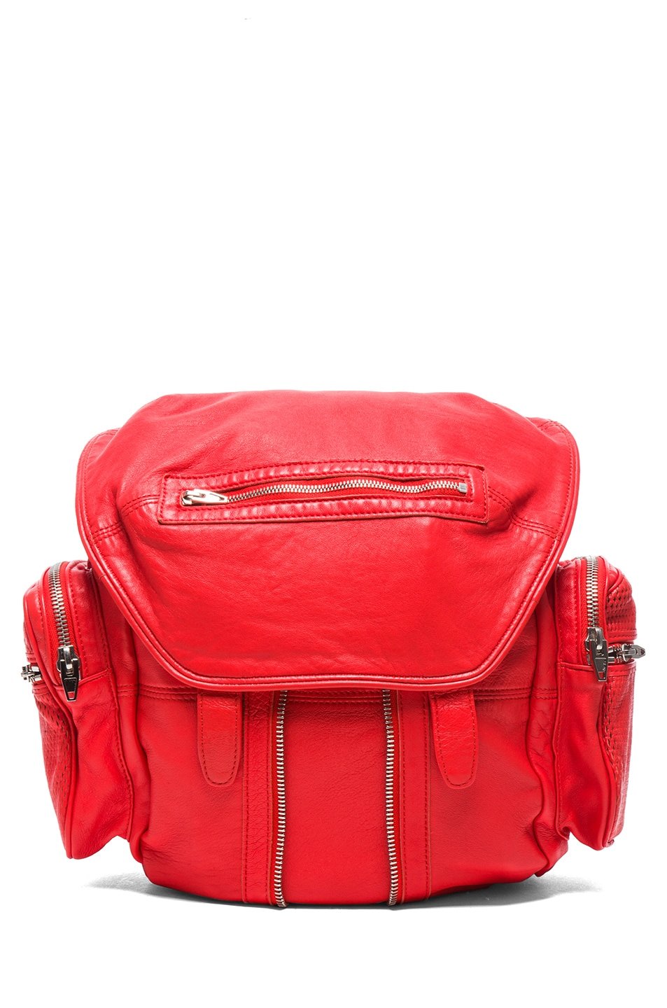 Image 1 of Alexander Wang Marti Leather & Mesh Backpack in Cola
