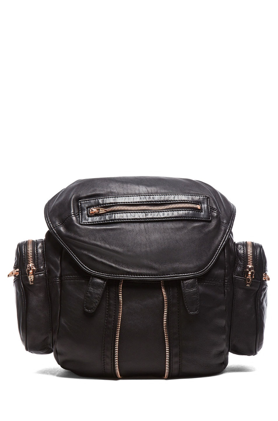8222d4f58b Image 1 of Alexander Wang Marti Backpack with Rose Gold Hardware in Black