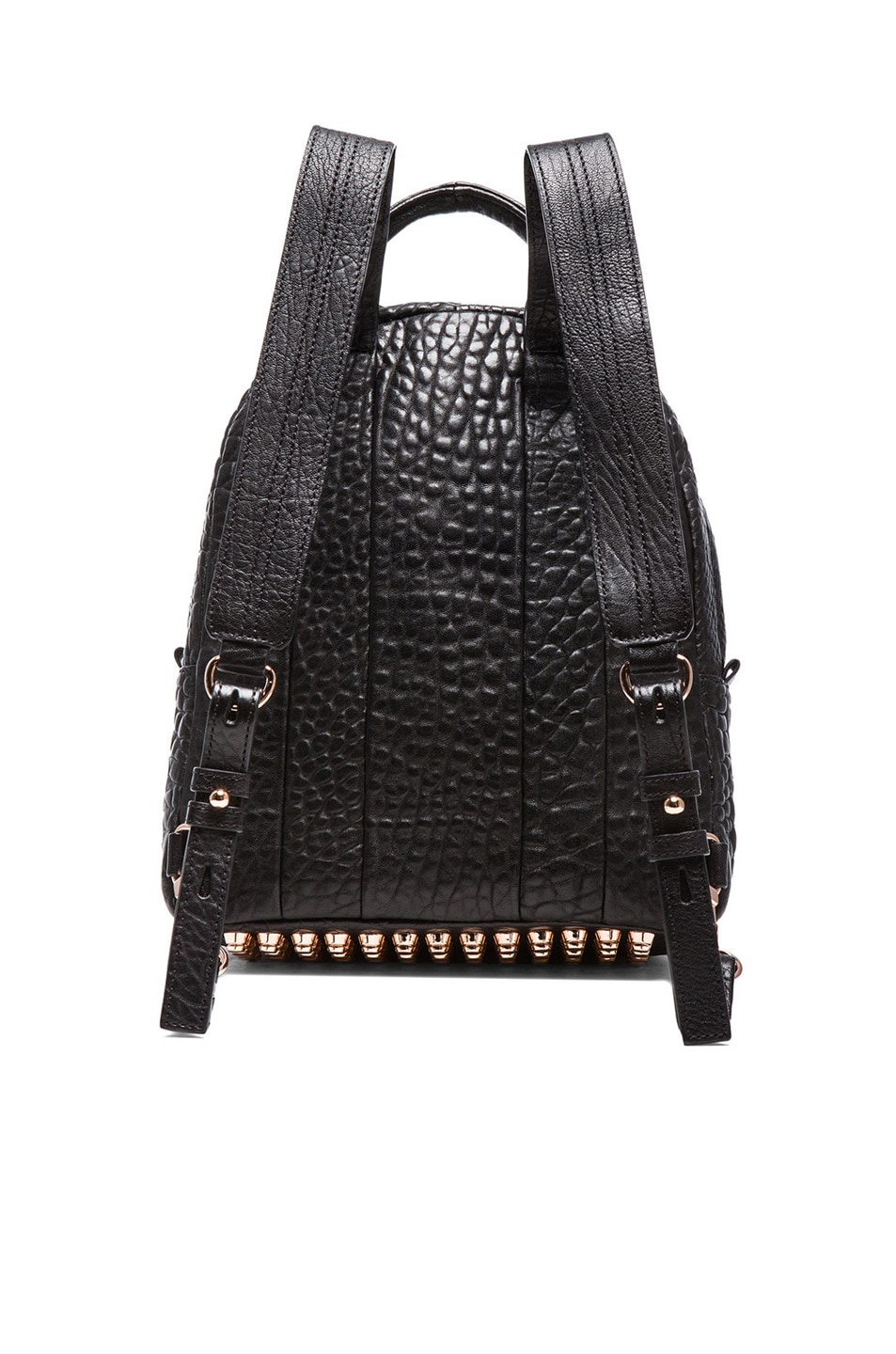 Image 3 of Alexander Wang Dumbo Backpack with Rose Gold Hardware in Black