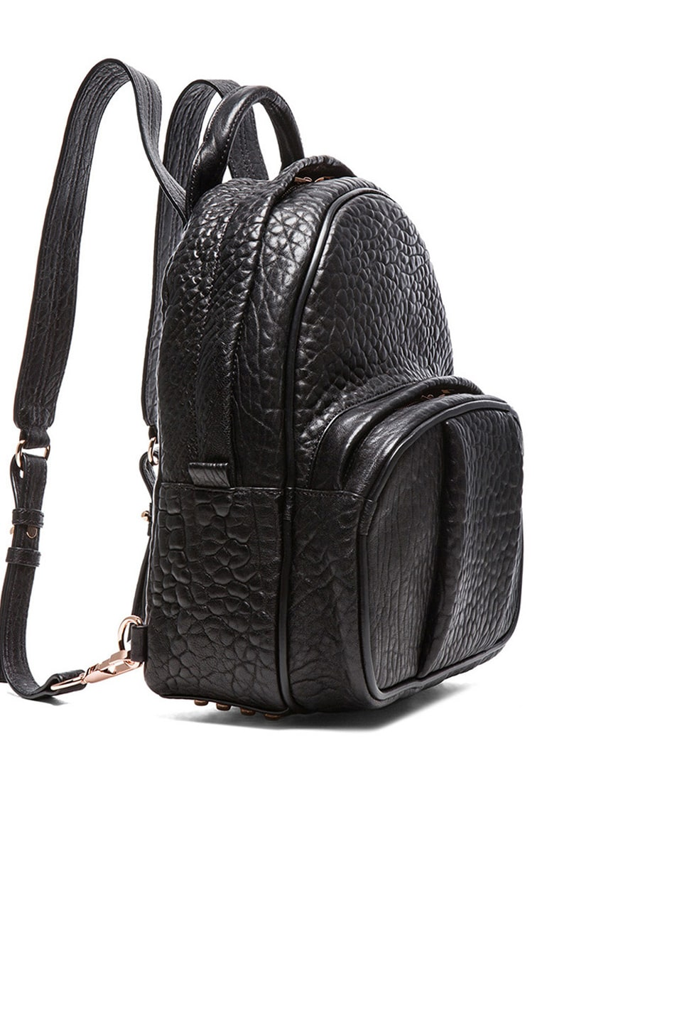 Image 4 of Alexander Wang Dumbo Backpack with Rose Gold Hardware in Black