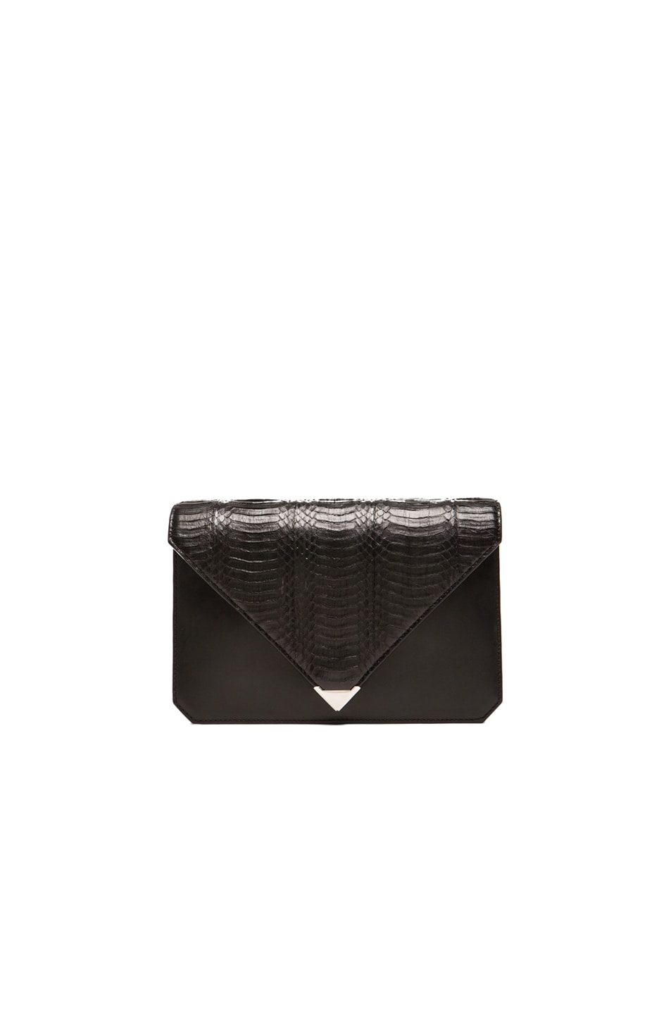 Image 1 of Alexander Wang Prisma Envelope Clutch in Black