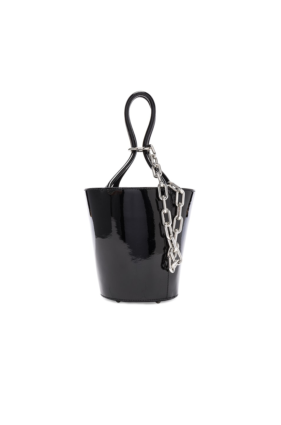 Image 1 of Alexander Wang Roxy Mini Bucket Patent Bag in Black