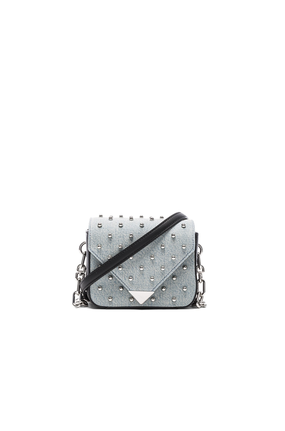 Image 1 of Alexander Wang Prism Envelope Chain Studded Bag in Denim