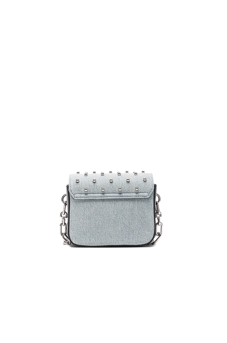 Image 2 of Alexander Wang Prism Envelope Chain Studded Bag in Denim