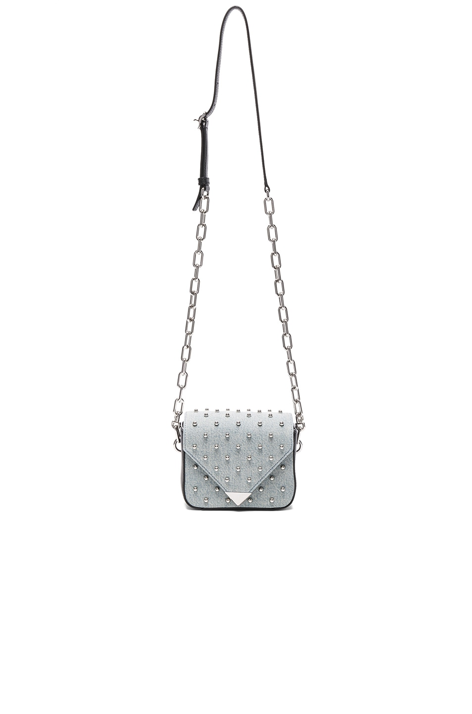 Image 5 of Alexander Wang Prism Envelope Chain Studded Bag in Denim