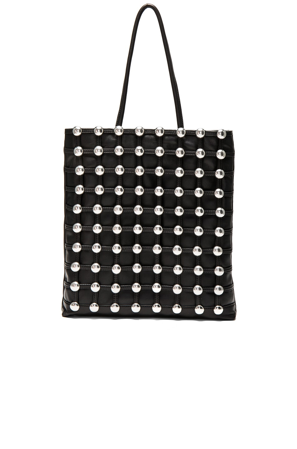 Image 1 of Alexander Wang Dome Stud Cage Shopper in Black