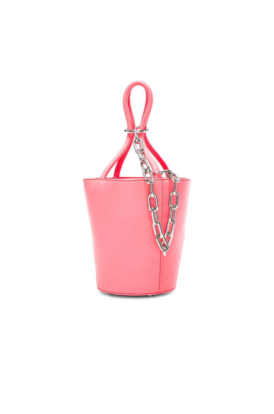 Image 1 of Alexander Wang Roxy Mini Bucket Bag in Fluo Coral