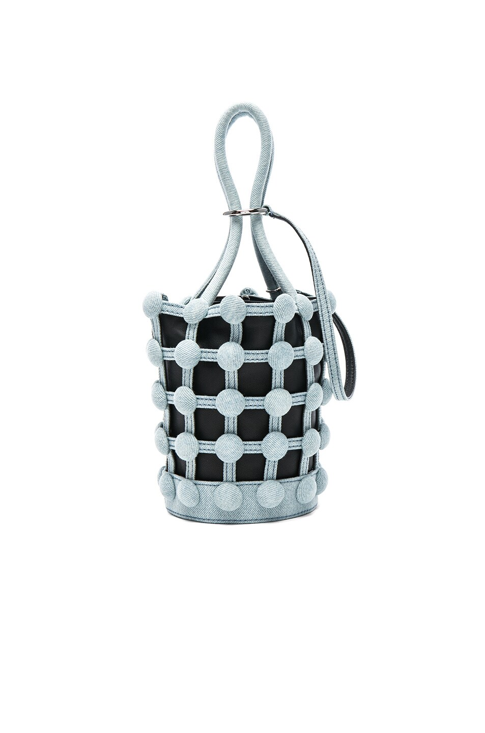 Image 1 of Alexander Wang Roxy Dome Stud Mini Bucket Bag in Bleached