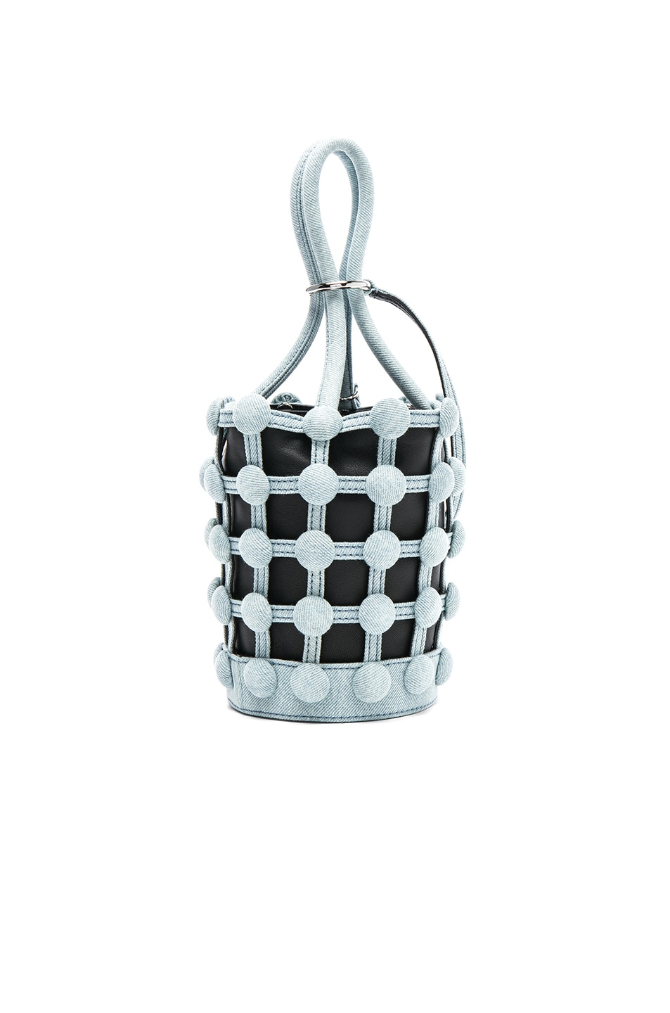 Image 3 of Alexander Wang Roxy Dome Stud Mini Bucket Bag in Bleached