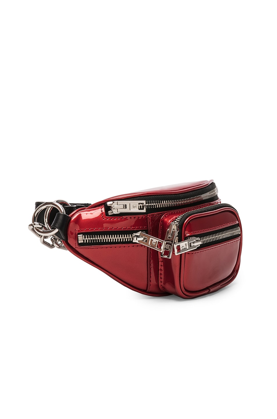 Image 4 of Alexander Wang Attica Patent Mini Fanny Pack in Red