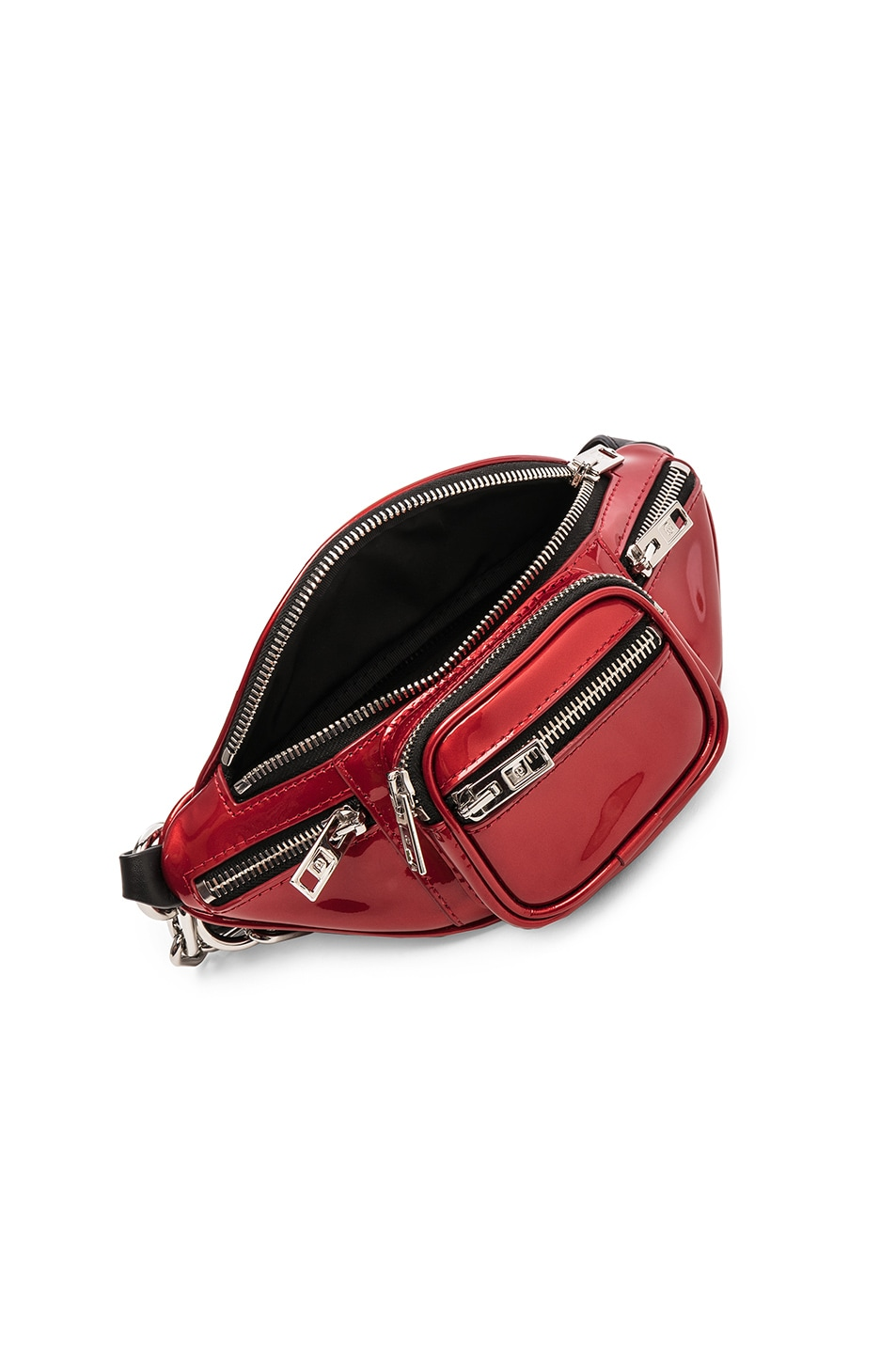Image 5 of Alexander Wang Attica Patent Mini Fanny Pack in Red
