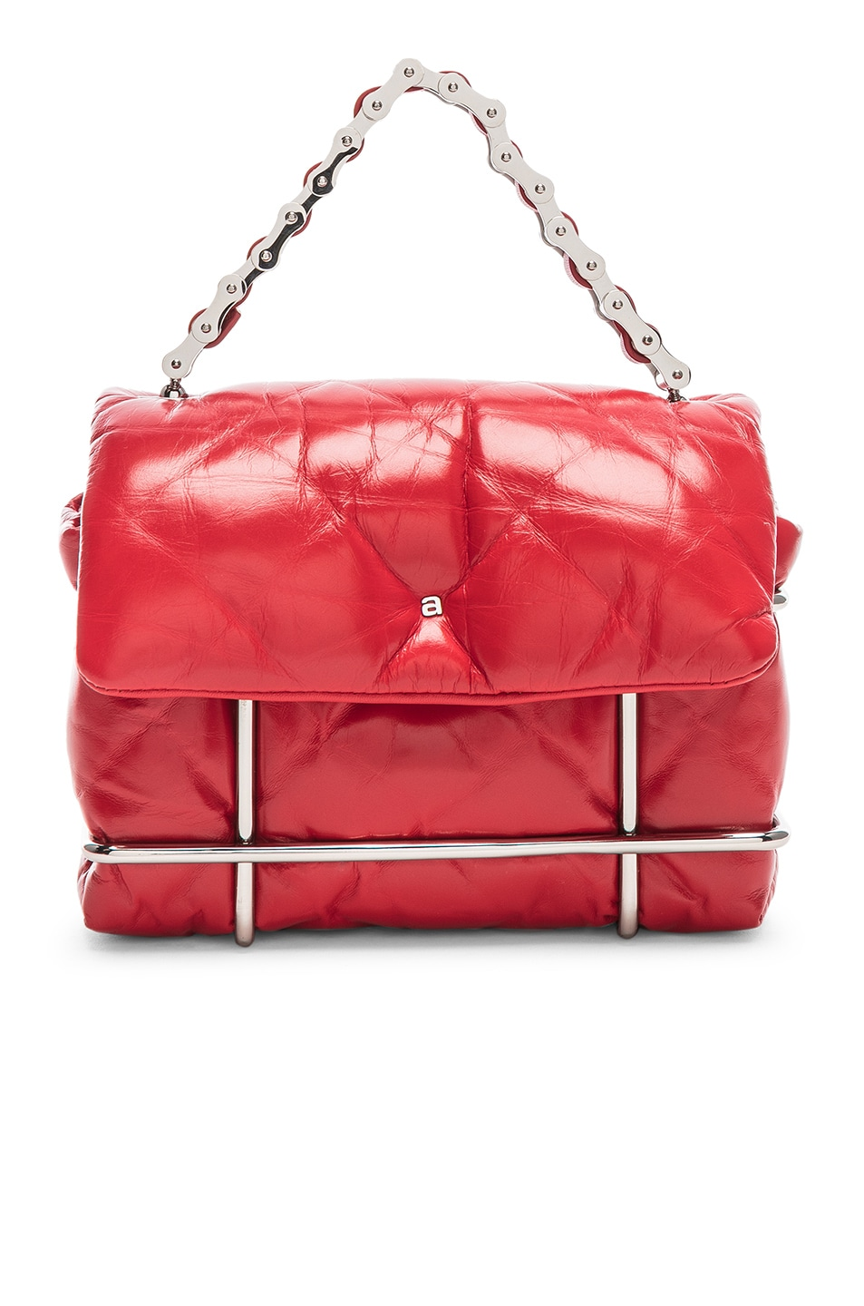 Image 1 of Alexander Wang Halo Quilted Bag in Red