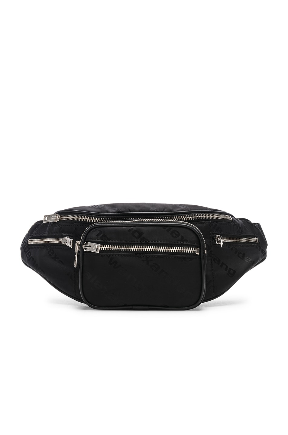 Image 1 of Alexander Wang Jacquard Logo Attica Fanny Pack in Black