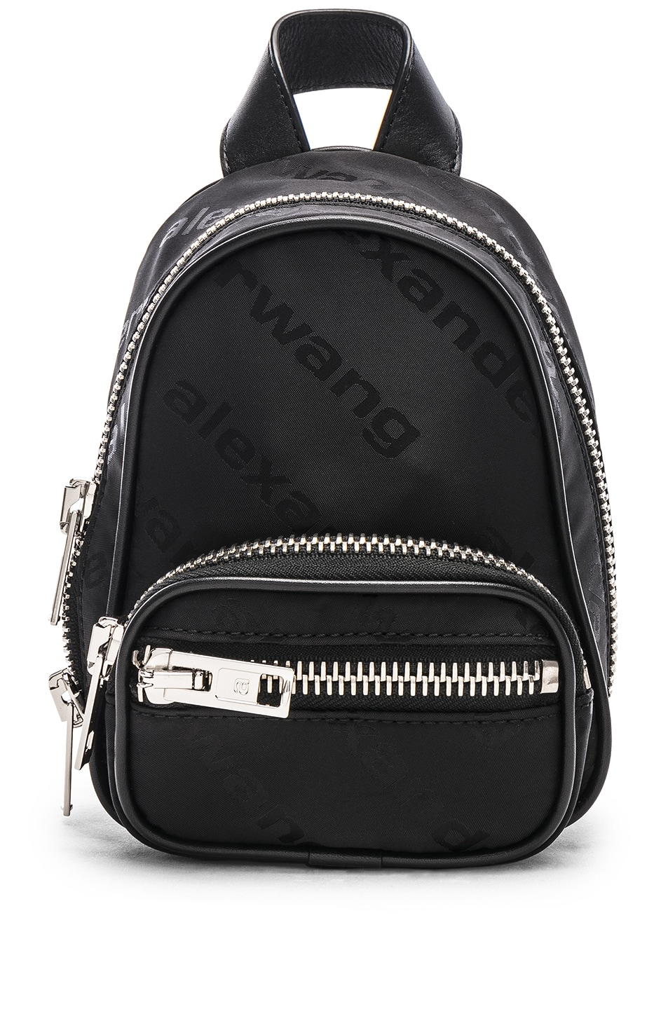 Image 1 of Alexander Wang Jacquard Logo Atticca Mini Backpack in Black