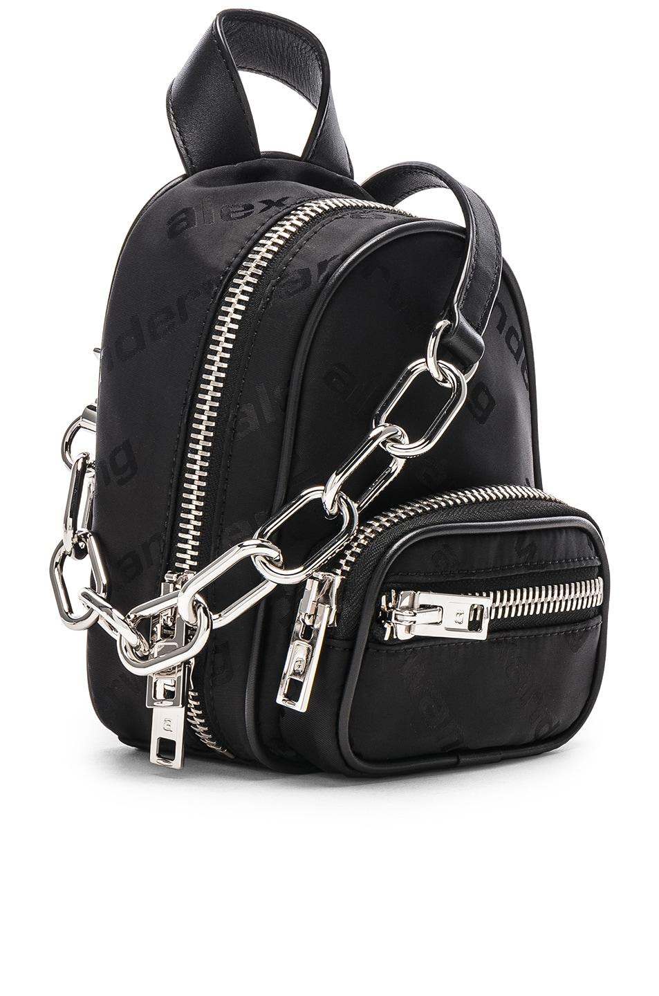 Image 4 of Alexander Wang Jacquard Logo Atticca Mini Backpack in Black