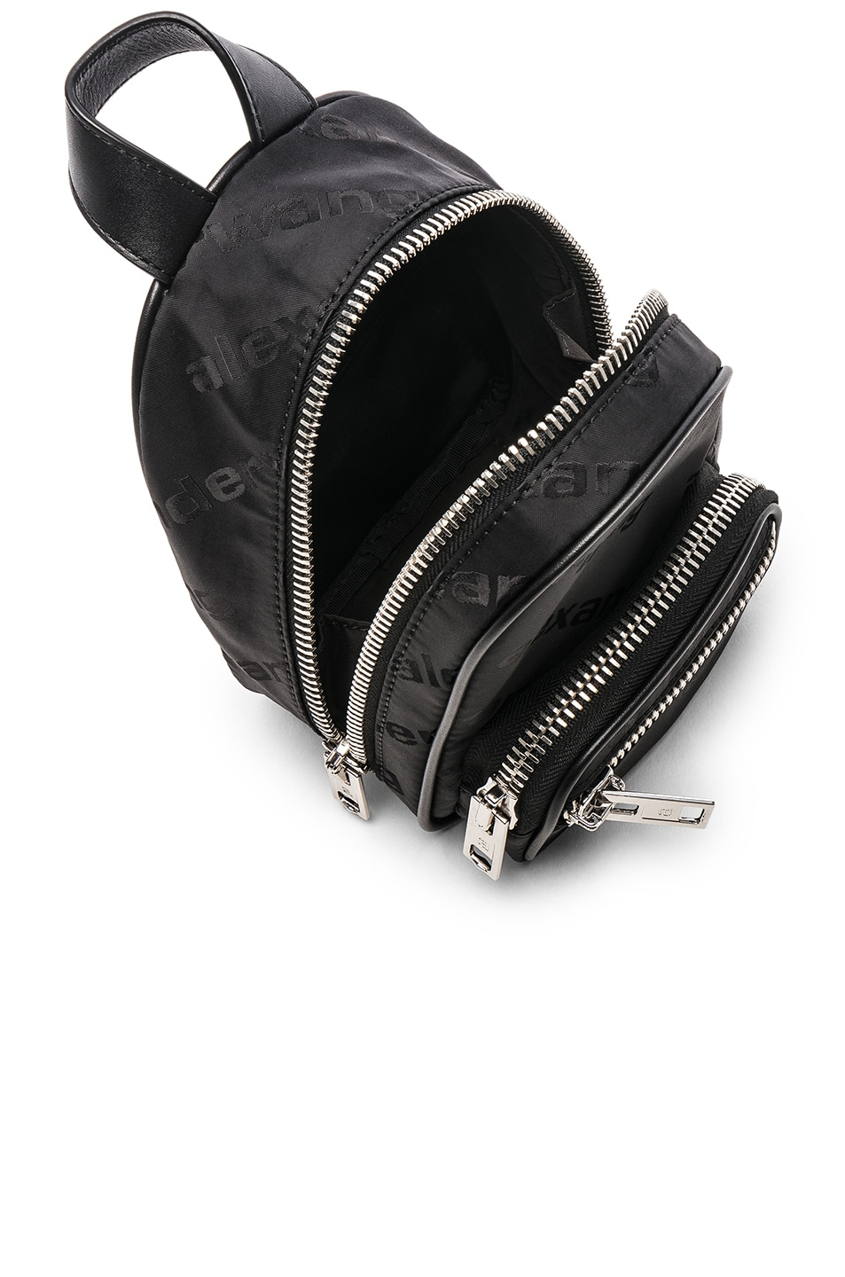 Image 5 of Alexander Wang Jacquard Logo Atticca Mini Backpack in Black