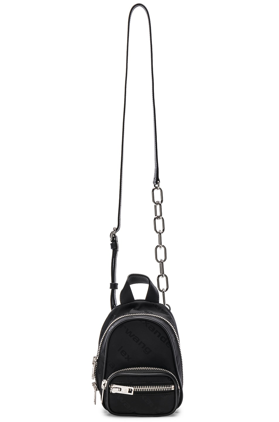 Image 6 of Alexander Wang Jacquard Logo Atticca Mini Backpack in Black