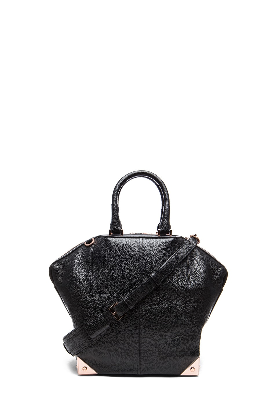 fc6289548e18 Image 1 of Alexander Wang Small Emile Tote with Rose Gold in Black
