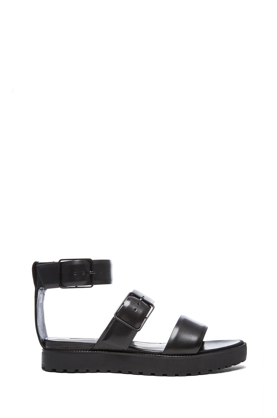 Image 1 of Alexander Wang Kira Ankle Strap Calfskin Sandals in Black