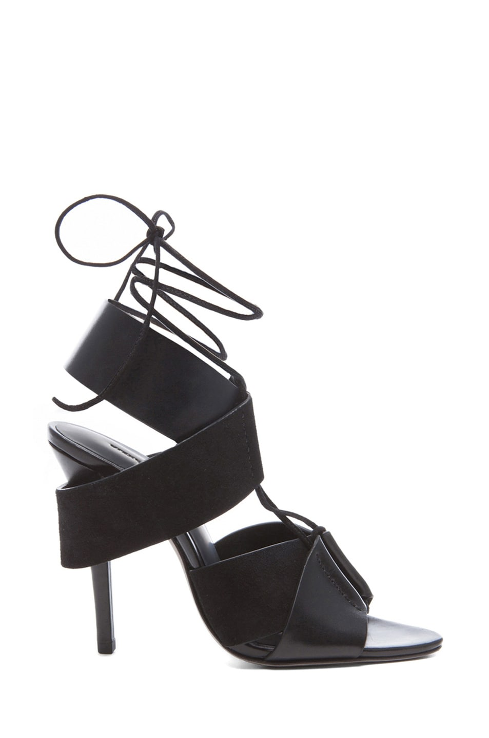 Image 1 of Alexander Wang Malgosia Leather & Suede Sandals in Black