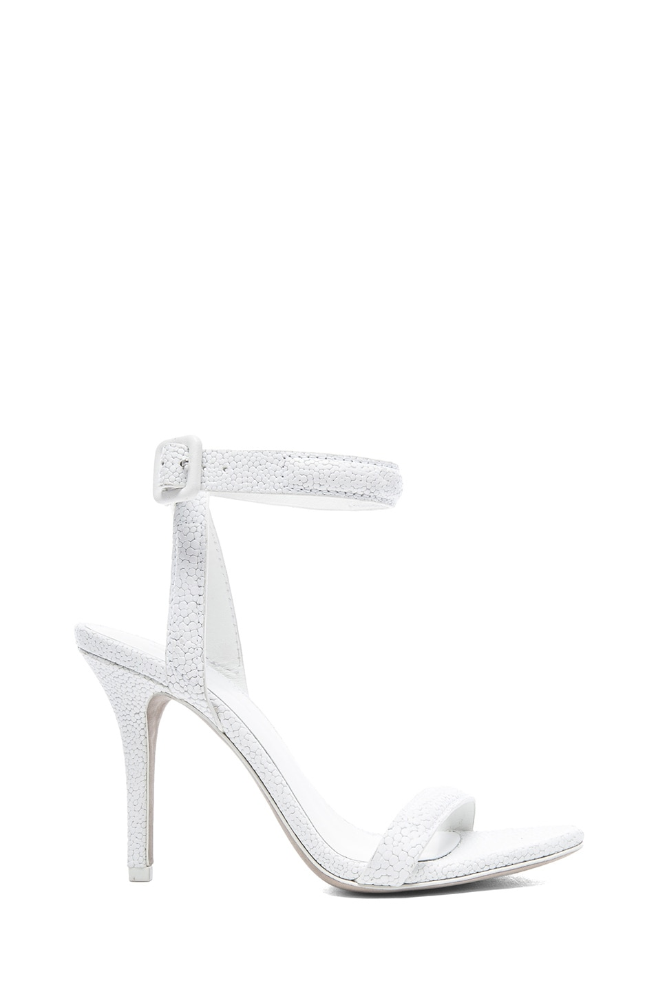 Image 1 of Alexander Wang Antonia Stingray Embossed Leather Heels in Peroxide
