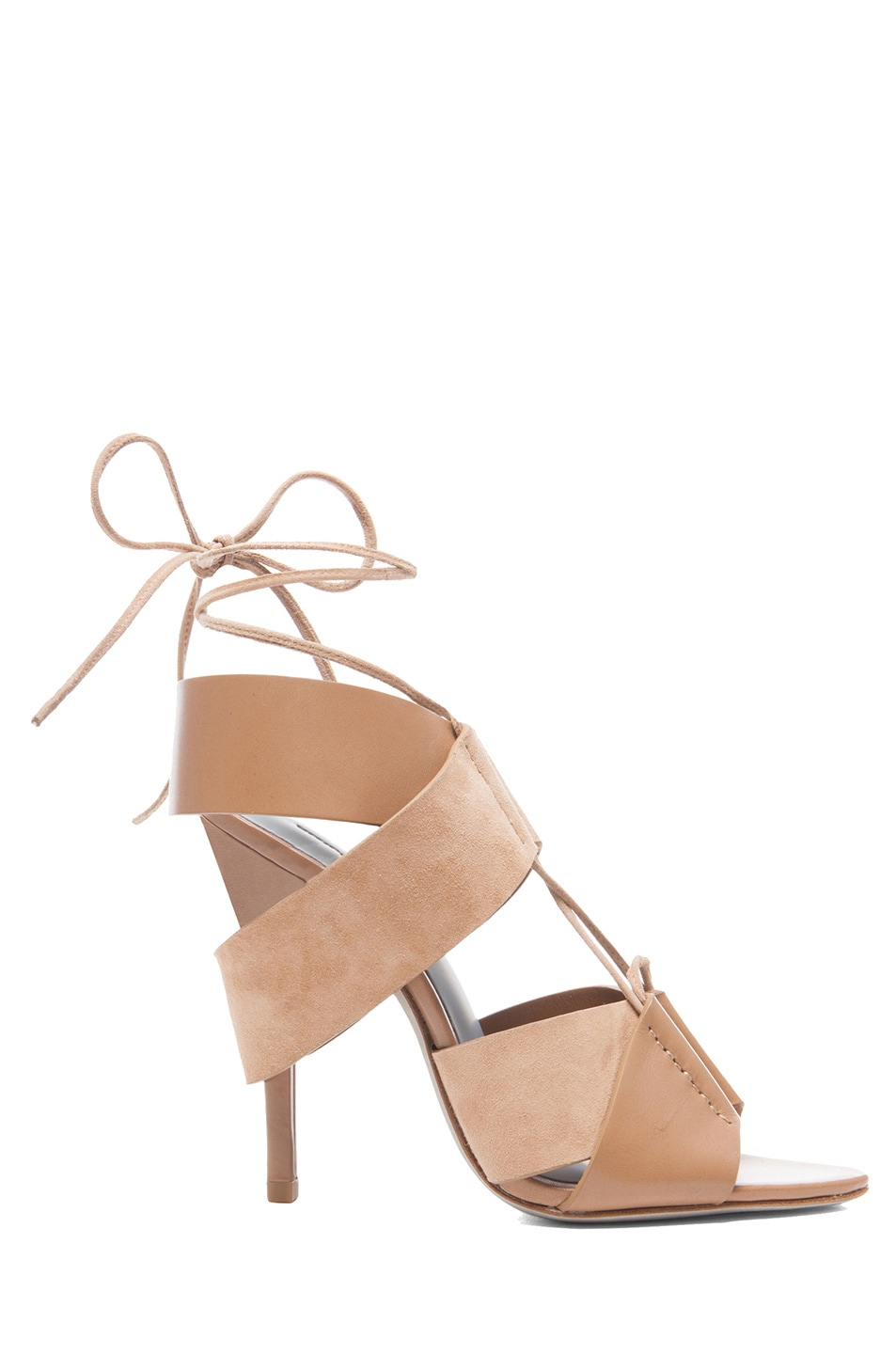 Image 1 of Alexander Wang Malgosia Leather & Suede Sandals in Truffle