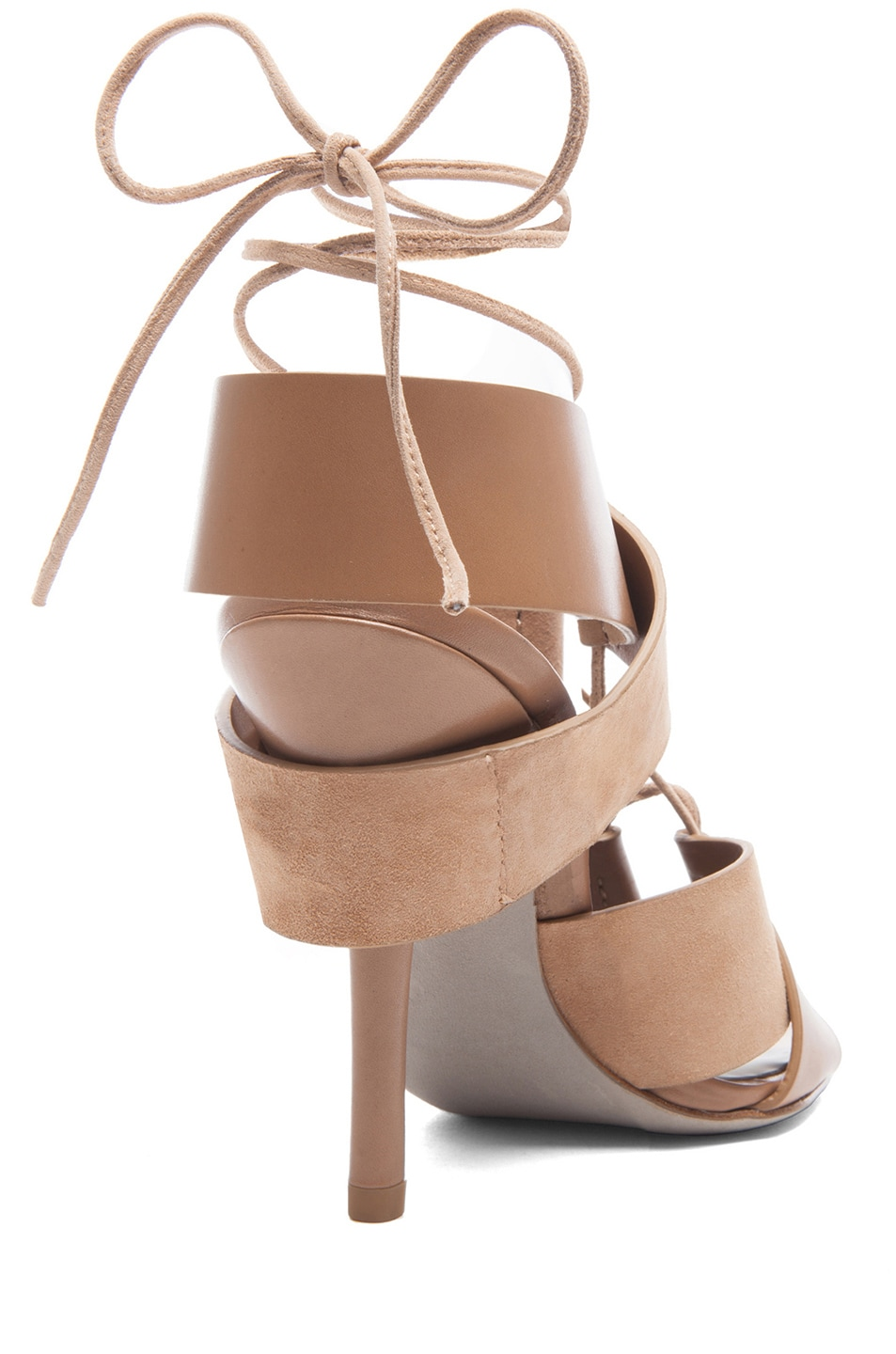 Image 3 of Alexander Wang Malgosia Leather & Suede Sandals in Truffle