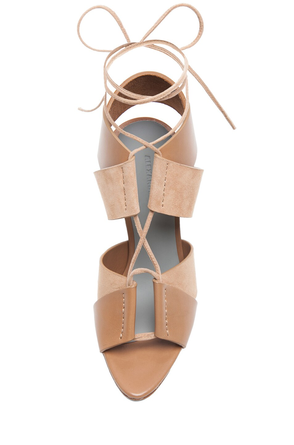 Image 4 of Alexander Wang Malgosia Leather & Suede Sandals in Truffle
