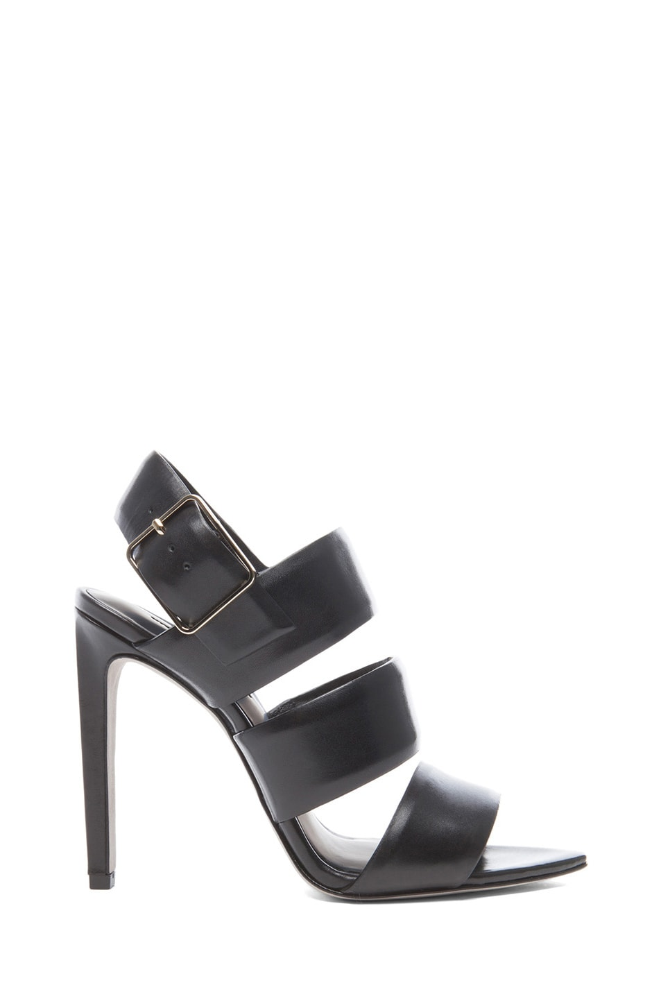 Image 1 of Alexander Wang Kerry Leather Slingback Sandals in Black