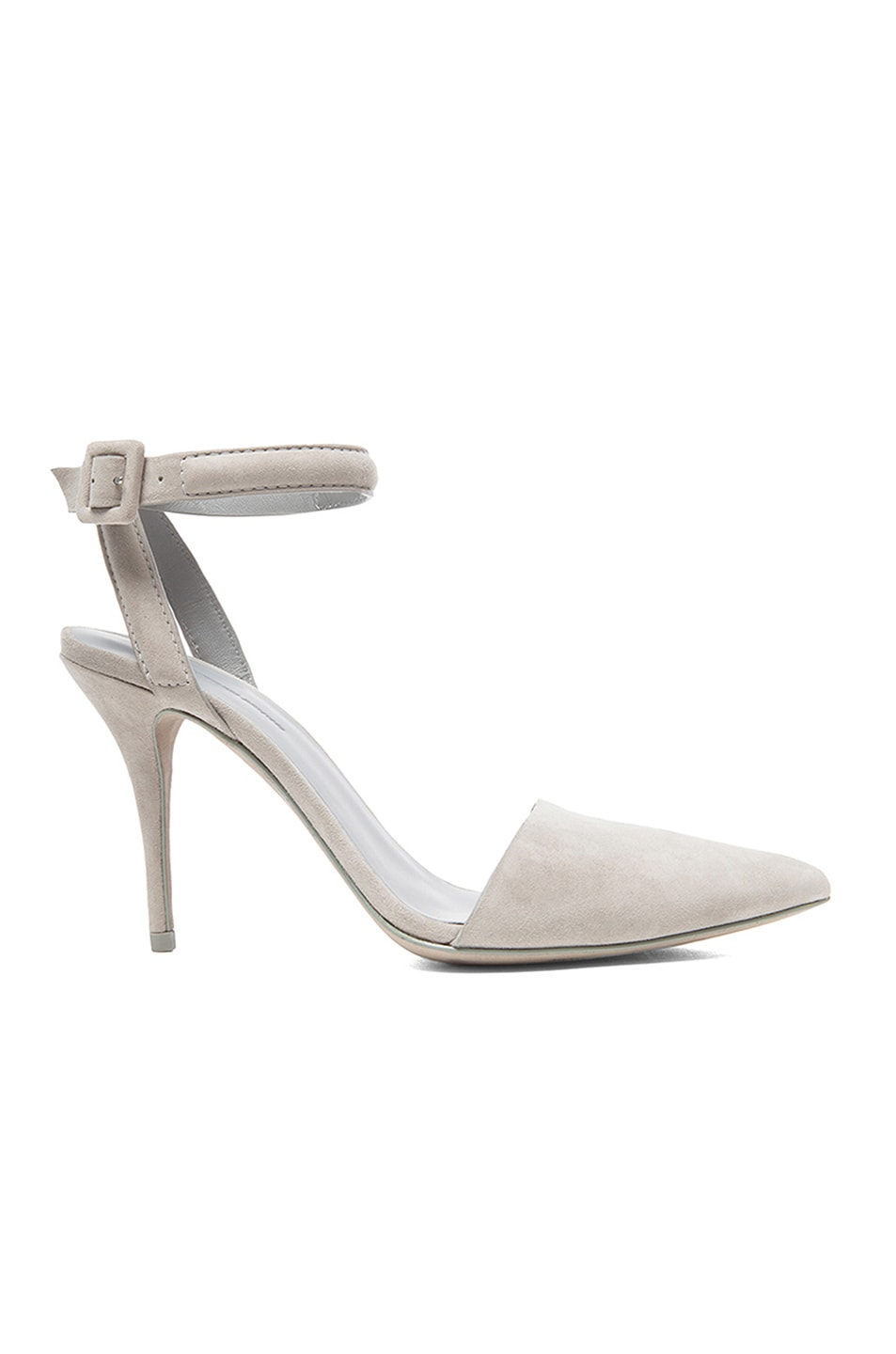 Image 1 of Alexander Wang Lovisa Suede Ankle Strap Pumps in Oyster