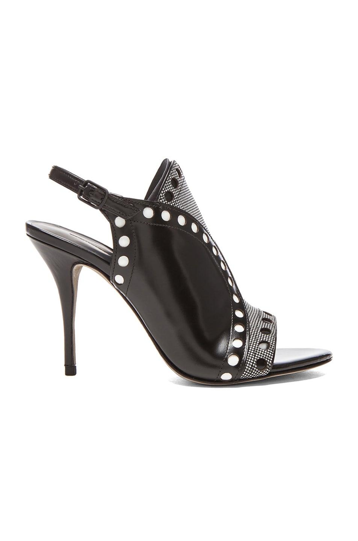 Image 1 of Alexander Wang Natalya Leather Sling Back Sandals in Black