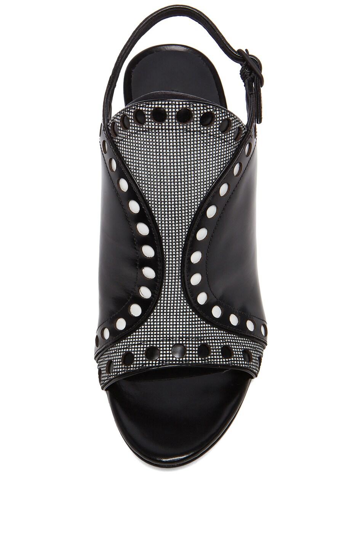 Image 4 of Alexander Wang Natalya Leather Sling Back Sandals in Black