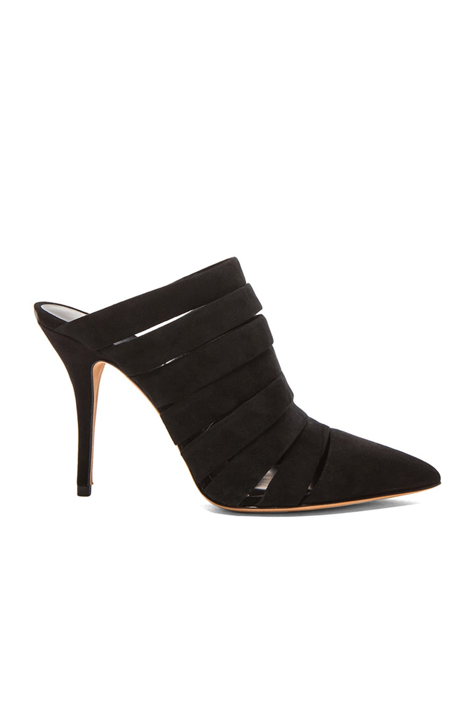 Image 1 of Alexander Wang Britt Suede Mules in Black