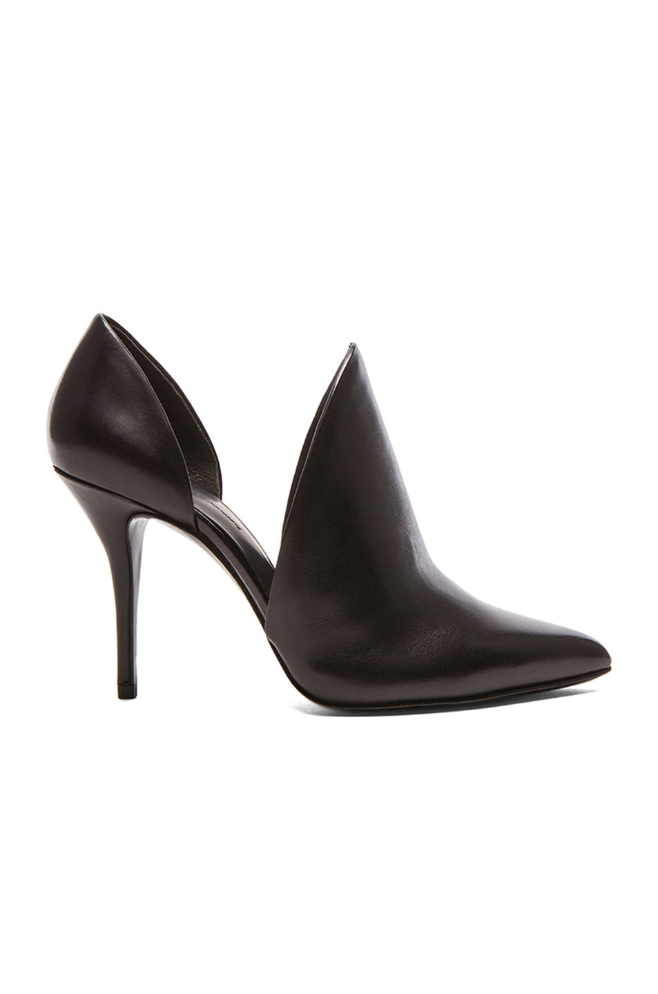 Image 1 of Alexander Wang Leva D'Orsay Leather Pumps in Black