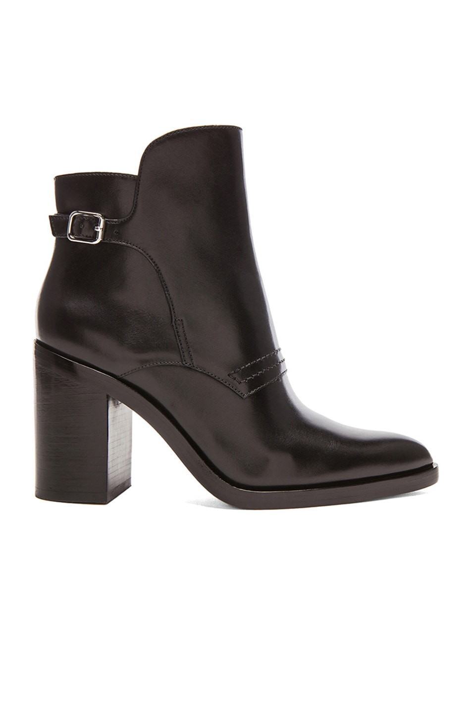 Image 1 of Alexander Wang Clarice Leather Ankle Booties in Black