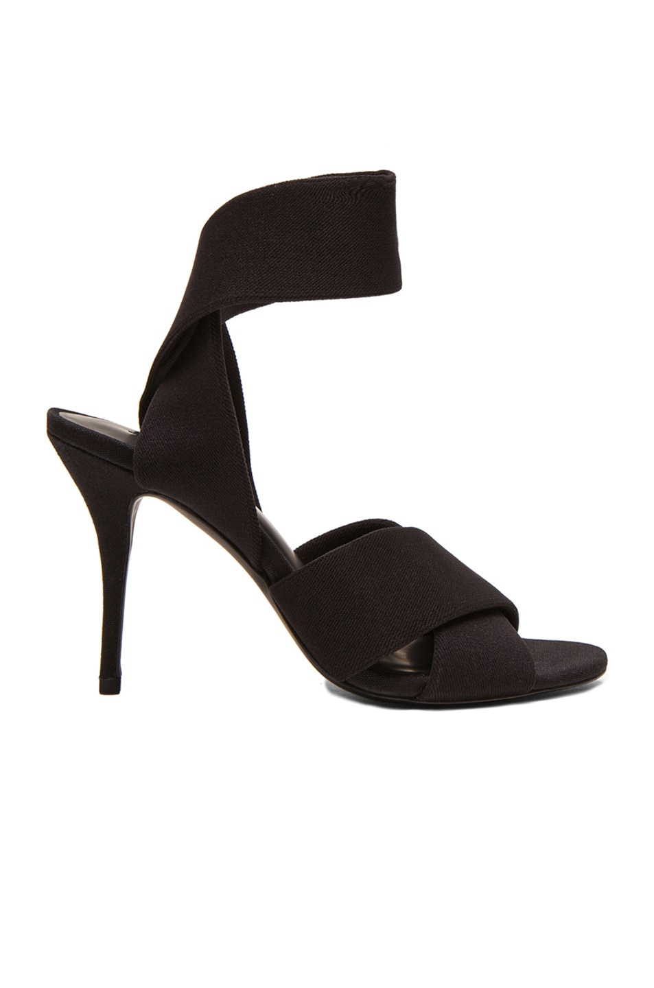 Image 1 of Alexander Wang Dana Tubular Elastic Fabric Heels in Black