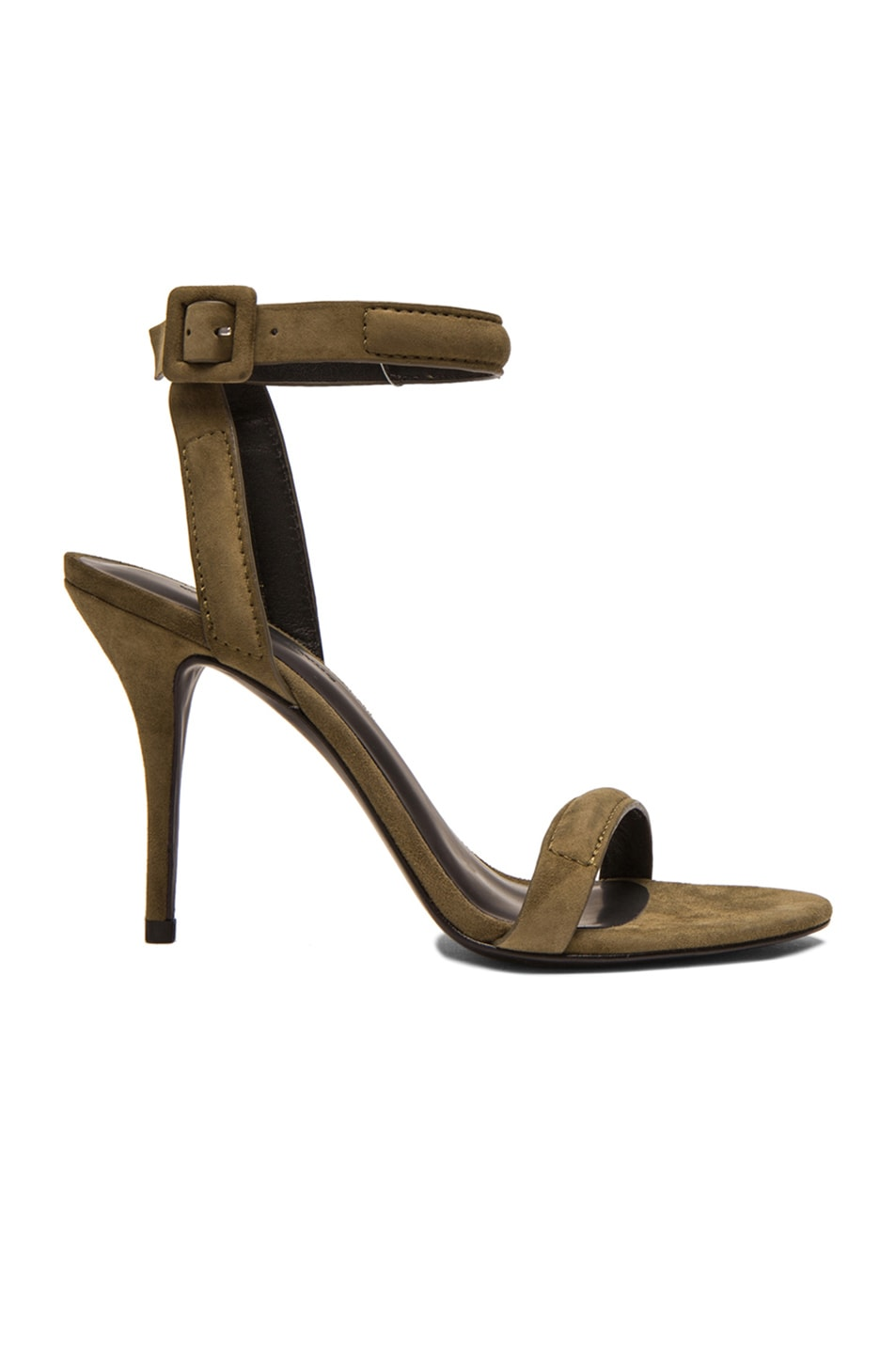 Image 1 of Alexander Wang Antonia Suede Ankle Strap Sandals in Camouflage