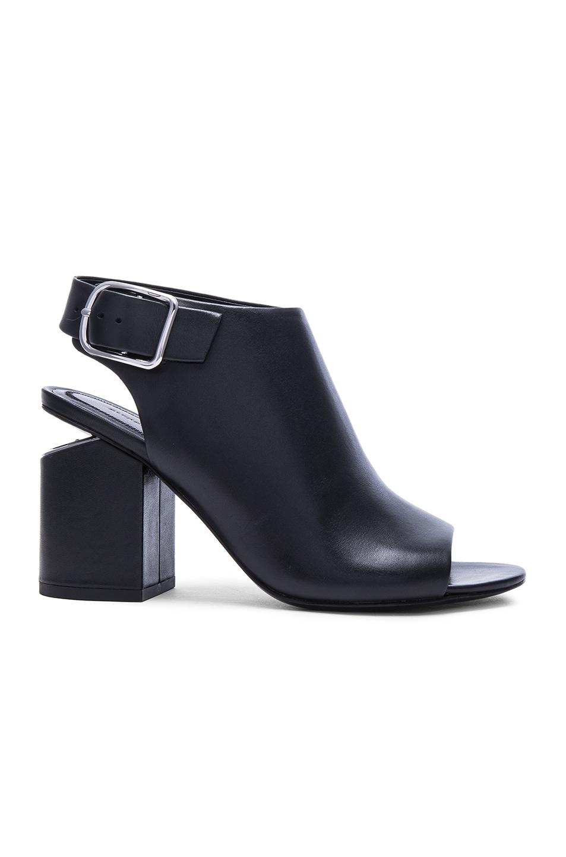 Image 1 of Alexander Wang Nadia Leather Heels in Black