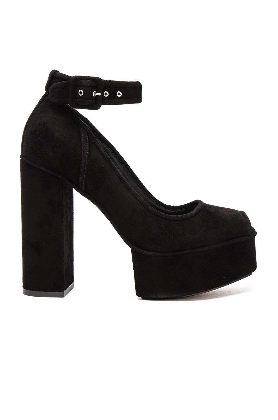 Image 1 of Alexander Wang Suede Aiko Heels in Black