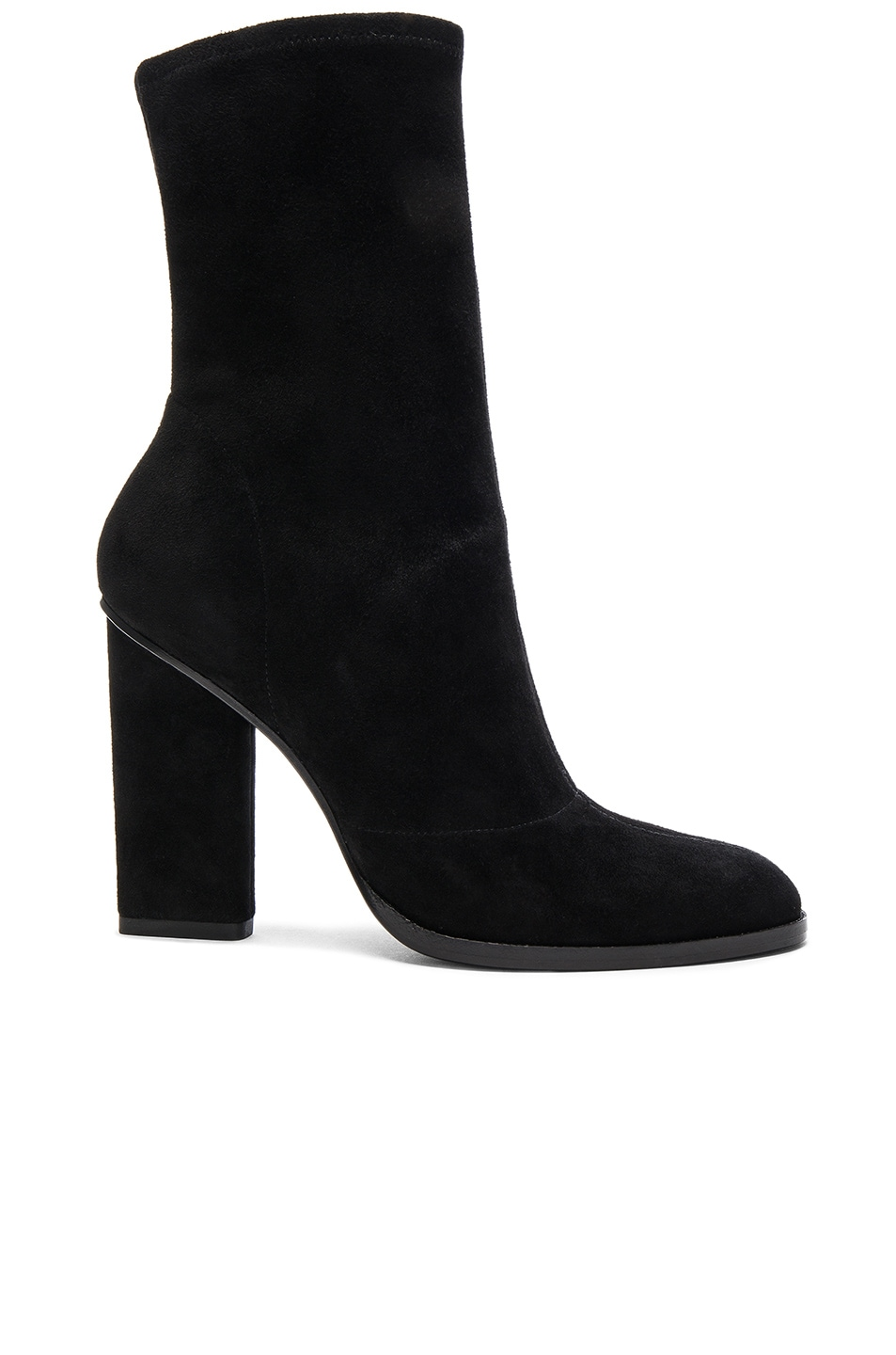 Image 1 of Alexander Wang Suede Gia Booties in Black