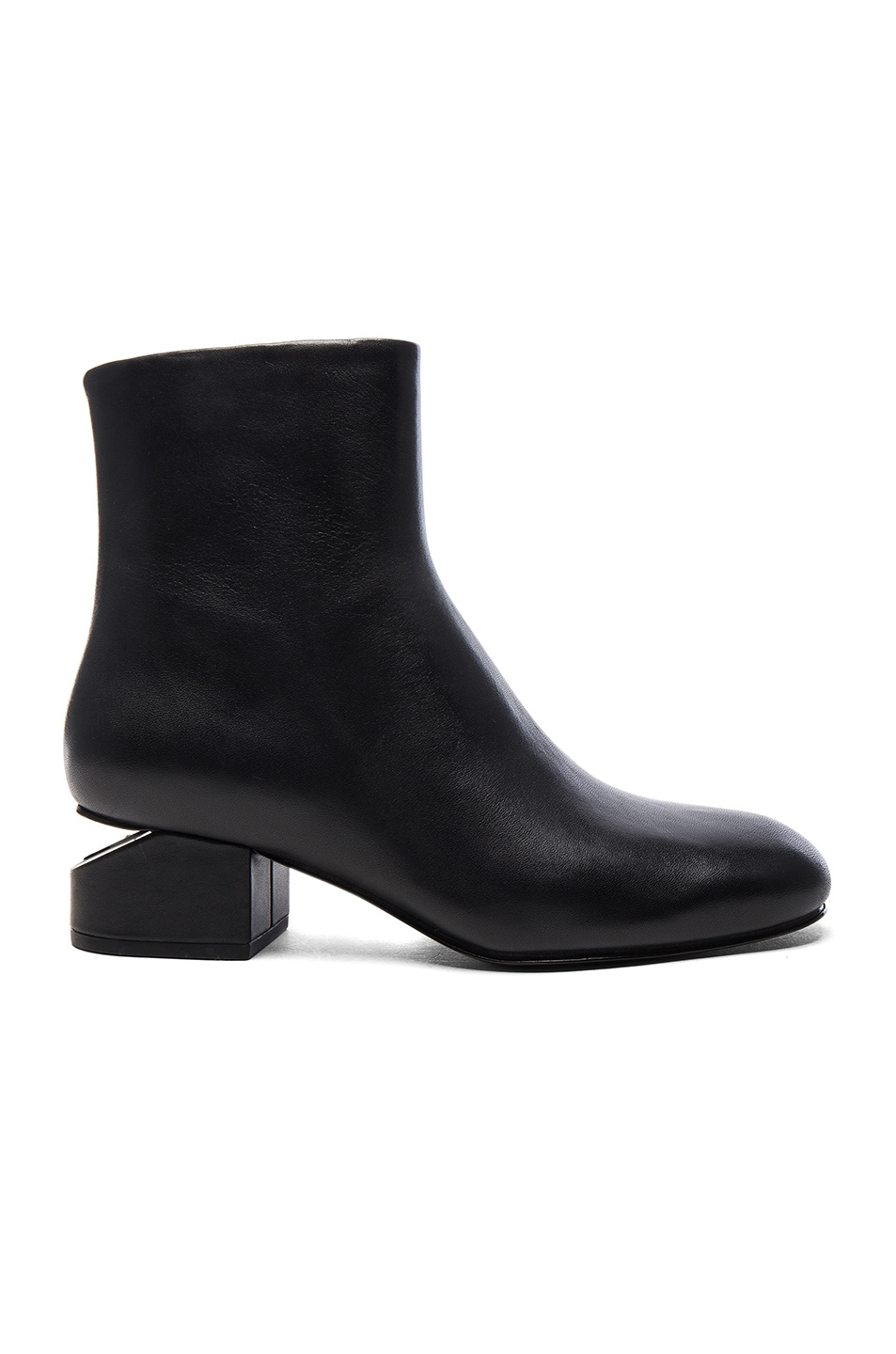 Image 1 of Alexander Wang Leather Kelly Booties in Black