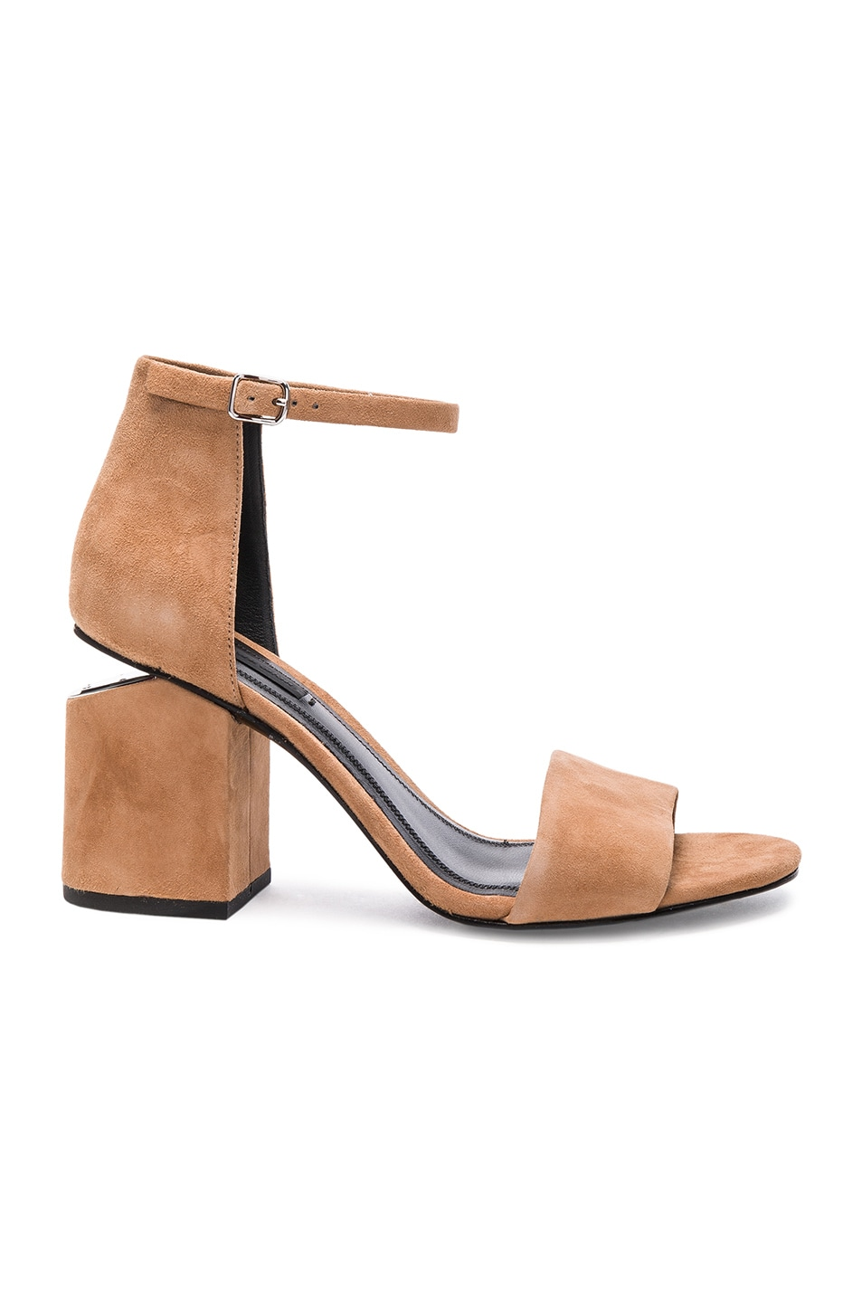 Image 1 of Alexander Wang Abby Suede Heels in Clay