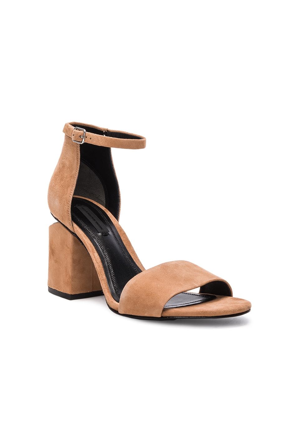 Image 2 of Alexander Wang Abby Suede Heels in Clay
