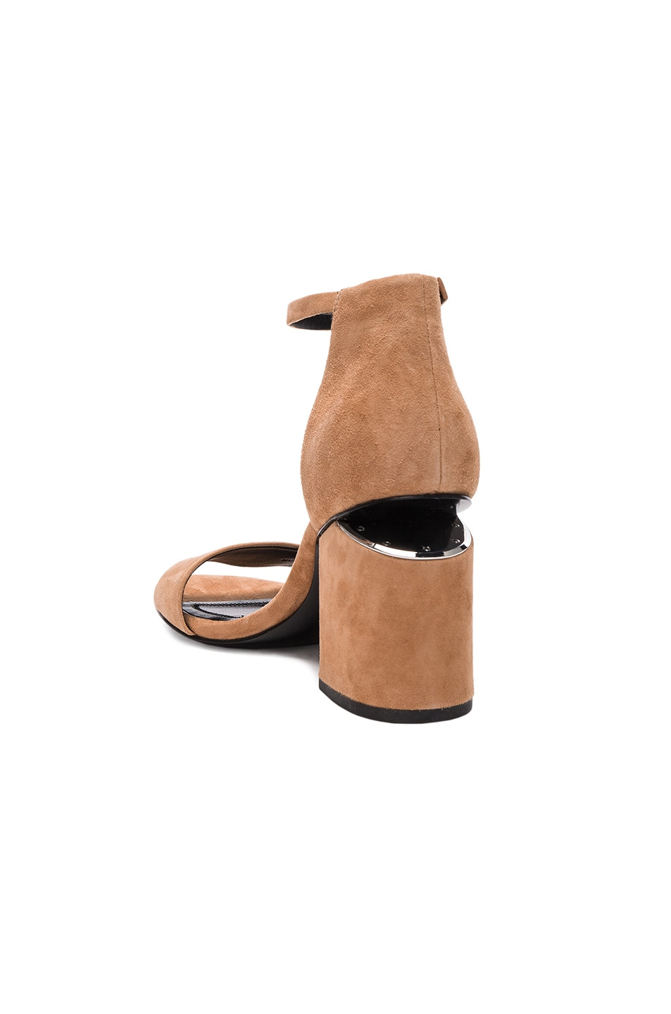 Image 3 of Alexander Wang Abby Suede Heels in Clay