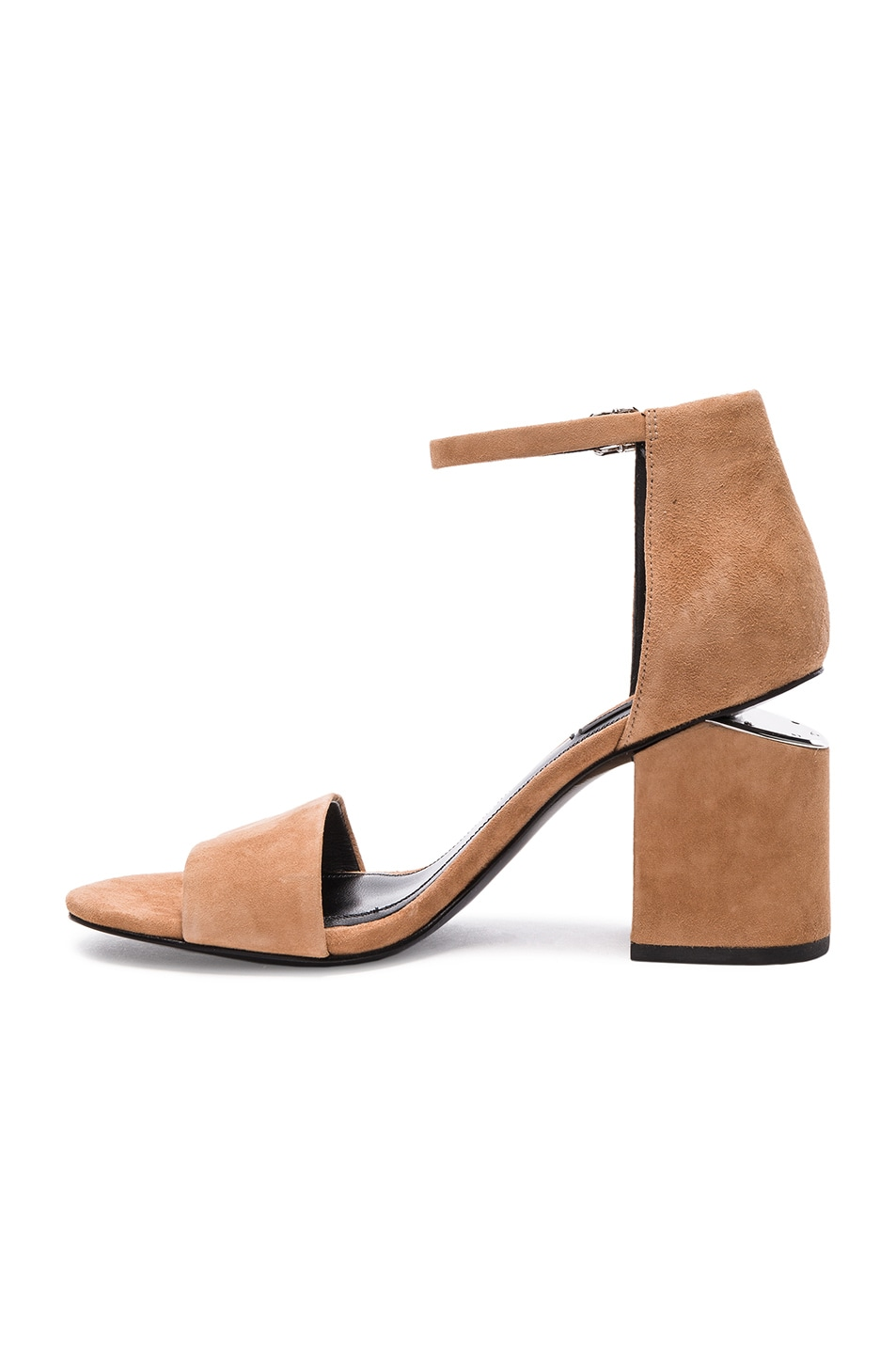 Image 5 of Alexander Wang Abby Suede Heels in Clay